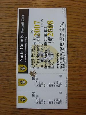 04/12/2007 Ticket: Notts County v Peterborough United [Directors Box] (complete)