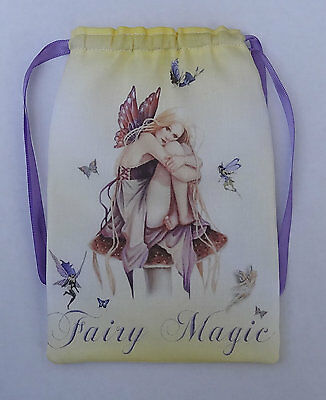 Yellow Fairy Magic Tarot Card Bag, ideal for most fairy angel, Wicca tarot cards