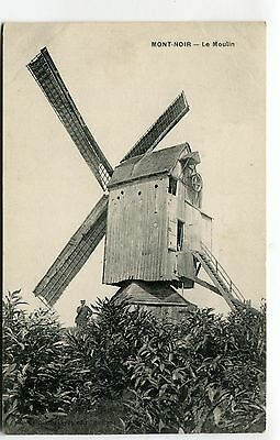 Mont-Noir, Nord, France - Le Moulin - windmill - old postcard