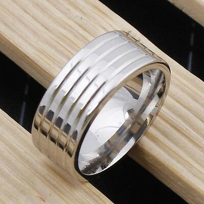 Top 316L Stainless Steel Ring Size 6.5 Women/Men Bridal Engagement Jewelry Gift
