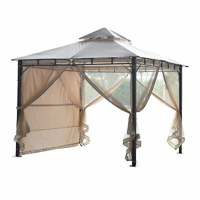 Outsunny 10x10ft Canopy Party Tent Gazebo Wedding Cater Events w/ Walls Wt