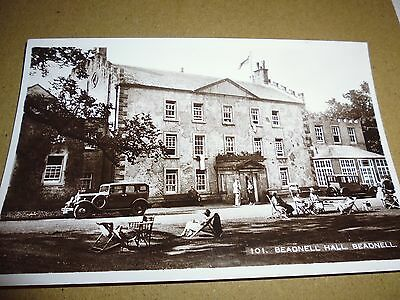 Vintage Postcard, Beadnell Hall, Beadnell, People, Deck Chairs, Photo, Nthumblnd
