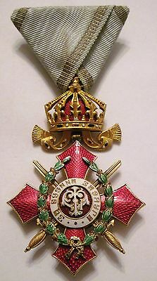 Bulgarian,Bulgaria Order Military Merit 4th cl. with Military DISTINICTION, WWII