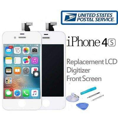 For iPhone 4S LCD Touch Screen Digitizer Front Glass Replacement Assembly White