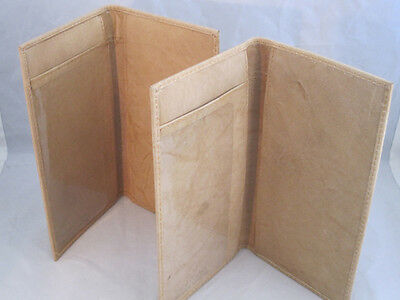 Checkbook Covers Plain Set Of 2 All Tan Leather Gift Idea New Genuine Leather