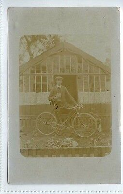 (Lc1091-401) RP of Gentleman with Bicycle 1908 Used EX