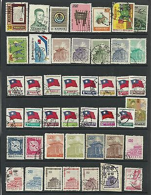 A Selection of Mounted Mint & used Taiwan Stamps on Hanger page.