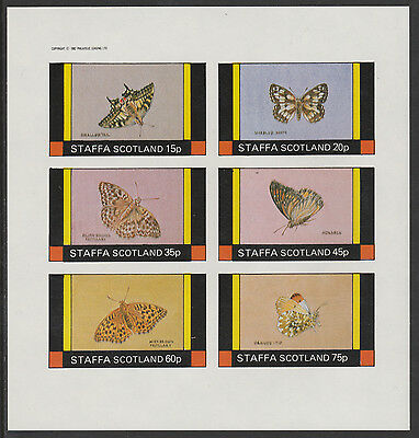 GB Locals - Staffa (2303) - 1982 BUTTERFLIES imperf sheetlet unmounted mint