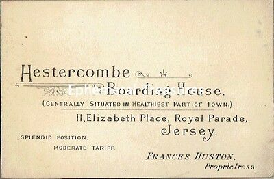 Superb Early 1900s Business Card. Hestercombe Boarding House, Jersey