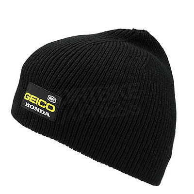 New 100% Geico Honda Motocross Casual Pit Beanie Black One Size