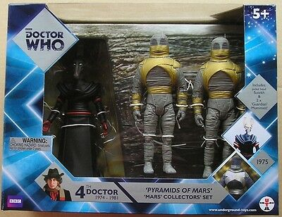 Dr Doctor Who Action Figure Set The Pyramids of Mars Sutekh + 2 Guardian Mummies
