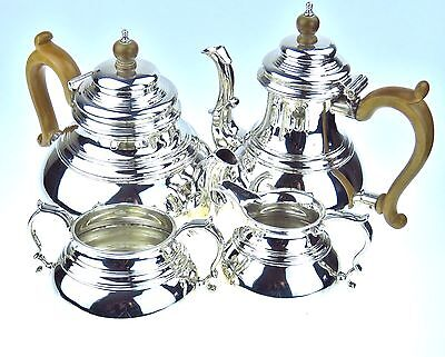 Sterling Silver Tea Coffee Set -  Richard Comyns, London, Hallmark 1961