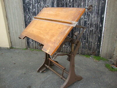 Superb Antique/20th Century Architects Drawing Board/Table Industrial Moderne