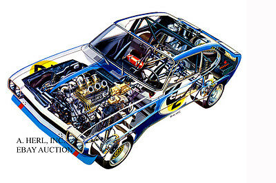 Ford Capri RS 2600 1970 design drawing photo photograph new model