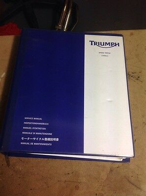 Triumph Speed Triple 1050 Genuine Service Manual 05-11