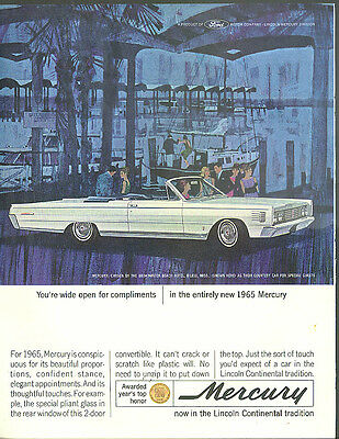 Wide open for compliments Mercury Monterey Convertible ad 1965