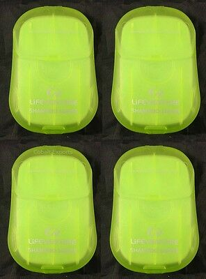 Travel Shampoo Leaves 4 Packs of 50 Hand Body Wash Camping Holiday Backpacking