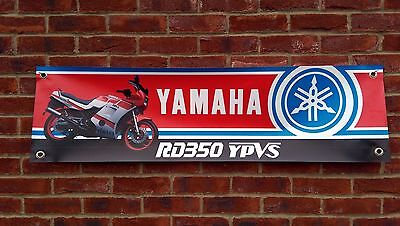 Br56 Yamaha Rd350 Ypvs F2 Lc Powervalve Classic Racing Banner Workshop Sign