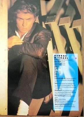 GEORGE MICHAEL 'life facts' magazine PHOTO/Poster/clipping 8x6 inches