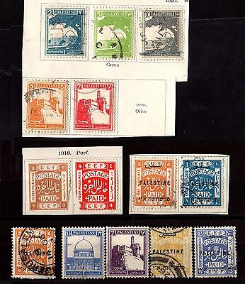 Stamps ~ PALESTINE Some OVERPRINTS ~ Mixed Unsorted