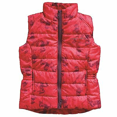Harry Hall Kids Cubley Gilet Junior Girl Quilted Elastic Sleeveless Full Zip Top