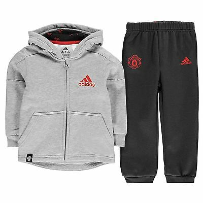 adidas Kids Manchester United FC Jogger Suit Infant Boys Warm Chin Guard Top