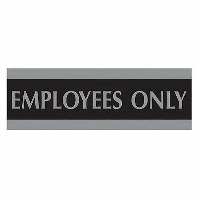 HeadLine Sign Century Series 3x9 Inch Employees Only Sign, Black and Silver...