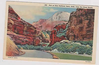 Zion National Park Post Card. Unused