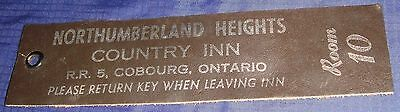 BR716 Vtg Cobourg ON Key Return Tag For Northumberland Heights Country Inn