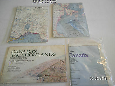 "4  Maps From  National Geographic Society.""canada"""