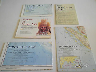 "5  Maps From  National Geographic Society.""southeast Asia"""
