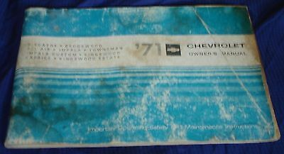 RF822 1971 71 Chevrolet Chev Chevy Owners Manual