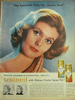 Helene Curtis, Spray Net, Full Page Vintage Ad
