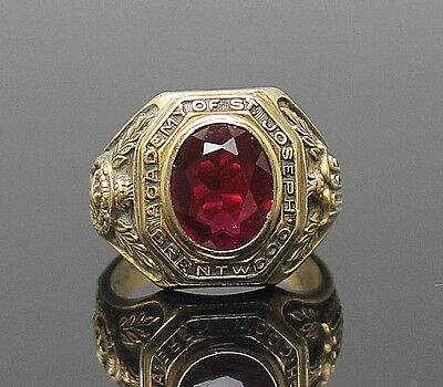 Dieges & Clust Academy Of St.joseph Brentwood 1966 Solid 10K Gold Class Ring S 8
