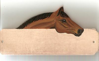 Horse/pony stable/stall/barn name plate/plaque/sign personalised gift