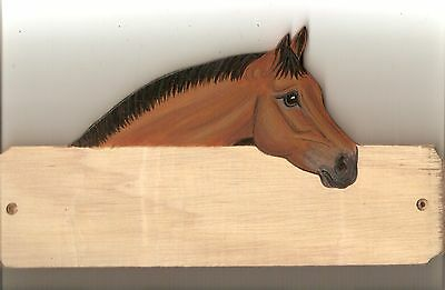 Warmblood horse stable/stall/barn name plate/plaque/sign personalised gift