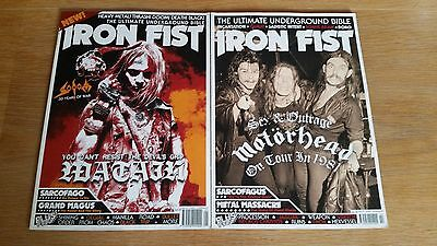 Iron Fist Magazine Issues 1 and 2 - Black metal death metal doom
