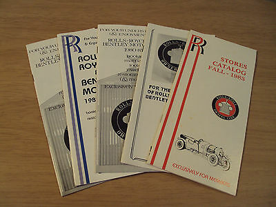 "VTG 1980's Lot 'STORE CATALOGS'~""Rolls-Royce Owners Club""~Bentley Automobile~"