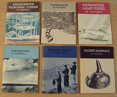 VTG 1960's LOT of 6 California FISH & GAME Booklets~Illustrated~