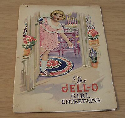 "Antique Early 1900's Advertising Booklet~""The JELL-O GIRL ENTERTAINS""~Colorful~"