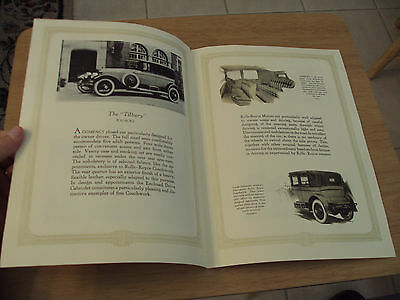 1920's Rolls-Royce Brochure~Tilbury/Pickwick/Canterbury/Windsor~1970 REPRINT~