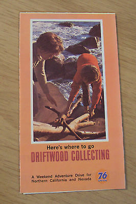 "1965 UNION 76 Gas Brochure~""COLLECTING DRIFTWOOD""~Northern CA/Nevada~"