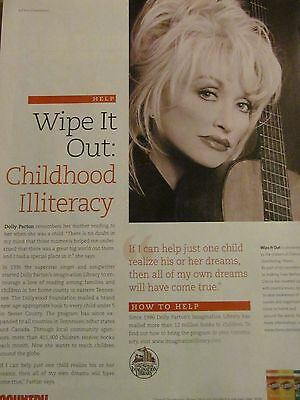 Dolly Parton, Childhood Illiteracy, Clorox, Full Page Vintage Print Ad
