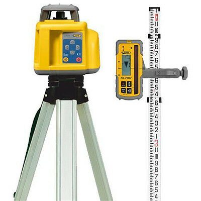 Spectra Precision Self Levelling Rotary Laser Level - W Receiver, Staff & Tripod