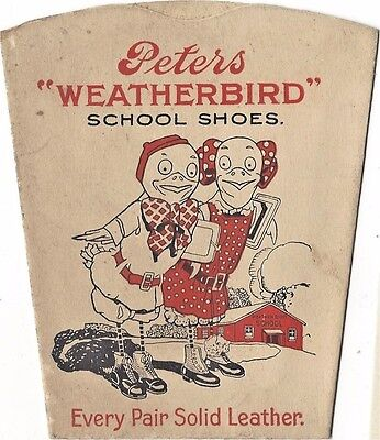 1920's Advertising Folding Paper Drinking Cup - Peters Weatherbird School Shoes