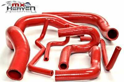 Mazda MX5 MK2 Cooling Hose Red Silicone (8 Piece) Set *New*