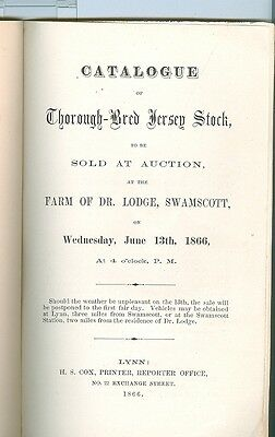 1866 Catalog Auction of Thorough-Bred Jersey Stock