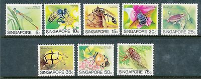 Singapore 1985 Insects set to 75c 8 values