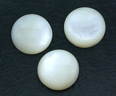 One 15mm Round Domed Creme Mother Of Pearl Cab Cabochon Gem Gemstone EBS8061