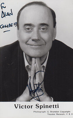 Victor Spinetti Hand Signed Vintage Publicity Photo